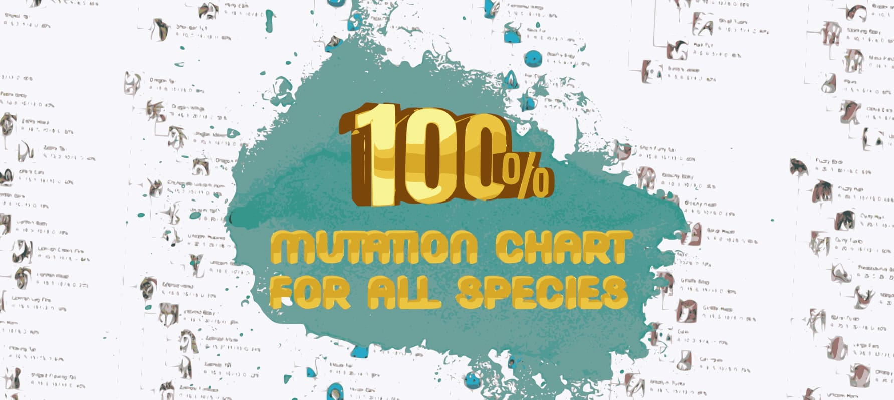 Mutation chart is now 100% for all species image