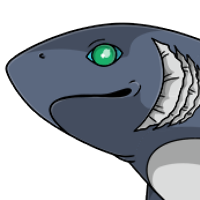 Frilled Shark Head male mutation of Cetacea