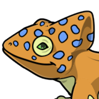 """Spotted Chameleon Head"" male mutation of Gekko"