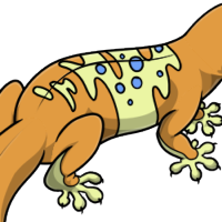 """Carrot Leopard Gecko Body"" female mutation of Gekko"