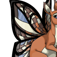 """Stained Glass Wings"" female mutation of Macropus"