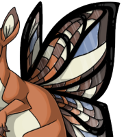 """Stained Glass Wings"" male mutation of Macropus"
